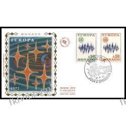 Monako 1972 FDC 1038-39 Europa Cept c Całości i całostki