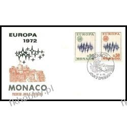 Monako 1972 FDC 1038-39 Europa Cept a Całości i całostki