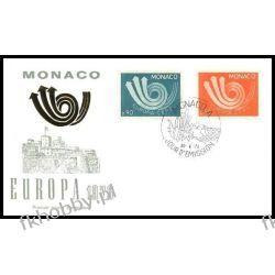 Monako 1973 FDC 1073-74 Europa Cept  Całości i całostki