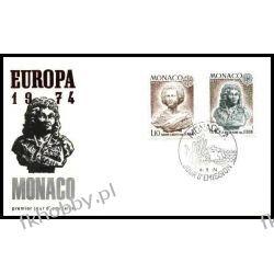 Monako 1974 FDC 1114-15 Europa Cept Rzeżby a Druk wklęsły