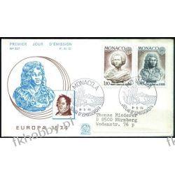 Monako 1974 FDC 1114-15 Europa Cept Rzeżby Całości i całostki