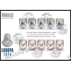 Monako 1974 FDC BL 7 Europa Cept Rzeżby b Druk wklęsły