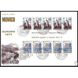 Monako 1977 FDC BL 11 Europa Cept Kościół Polonica