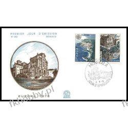 Monako 1978 FDC 1319-20 Europa Cept Kościół a Liechtenstein