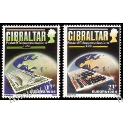 Gibraltar 1984 Mi 475-76 ** Europa Cept Poczta Pozostałe