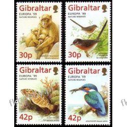 Gibraltar 1999 Mi 852-55 ** Cept Zwierzęta Ptaki Pozostałe