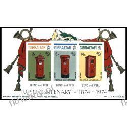 Gibraltar 1974 HB 1 ** 100 lat UPU Pozta  Druk wklęsły