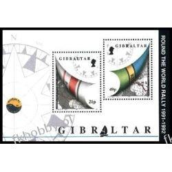 Gibraltar 1992 Mi BL 17 ** Żeglarstwo Kartografia Polonica