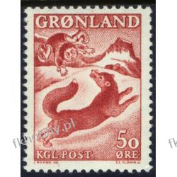 Grenlandia 1966 Mi 66 ** Czesław Słania Pies Marynistyka