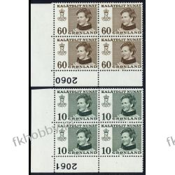 Grenlandia 1973 Mi 84-85 x4 ** Czesław Słania a Pozostałe