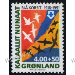 Grenlandia 1991 Mi 220 ** Błękitny Krzyż Ptaki Marynistyka