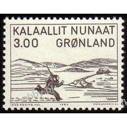 Grenlandia 1980 Mi 124 ** Dziecko  Druk wklęsły