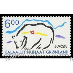 Grenlandia 1999 Mi 338 ** Europa Cept Niedżwiedż Ptaki
