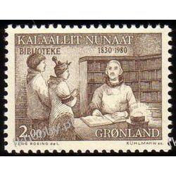 Grenlandia 1980 Mi 123 ** Eskimos Biblioteka Flora