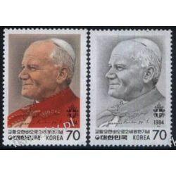 Korea Płd 1984 Mi 1367-68 ** Jan Paweł II Papież  Statki i okręty