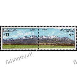 Słowacja 1999 Mi 337-38 zd ** Europa Cept Góry Druk wklęsły