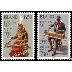 Islandia 1985 Mi 632-33 ** Cept Muzyka Folklor Pozostałe