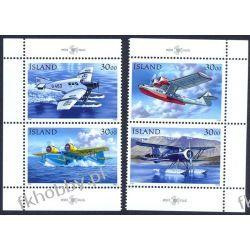 Islandia 1993 Mi 791-94 ** Samolot Lotnictwo Marynistyka