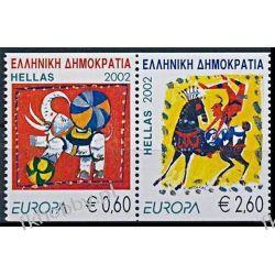 Grecja 2002 Mi 2110-11 Czd ** Europa Cept Cyrk Słoń Marynistyka