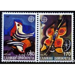 Grecja 1989 Mi 1721-22 Azd** Europa Cept Motyl Ptaki Pozostałe