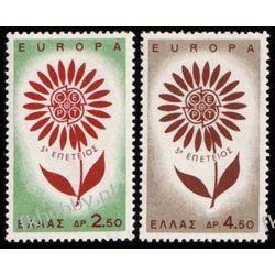Grecja 1964 Mi 858-59** Europa Cept Kwiaty  Marynistyka
