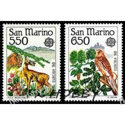 San Marino 1986 Mi 1339-40 ** Cept Zwierzęta Ptak Polonica