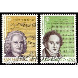 San Marino 1985 Mi 1313-14 ** Cept Bach Muzyka Ptaki