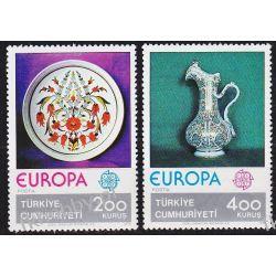 Turcja 1976 Mi 2385-86 ** Europa Cept Ceramika Pozostałe