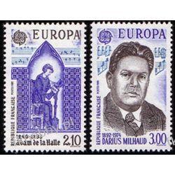 Francja 1985 Mi 2497-98 ** Europa Cept Muzyka  Ssaki