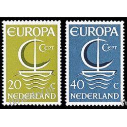 Holandia 1966 Mi 864-65 ** Europa Cept Statek  Pozostałe