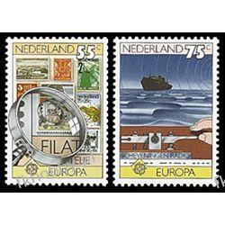 Holandia 1979 Mi 1140-41 ** Cept Znaczek Statek   Pozostałe