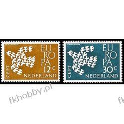 Holandia 1961 Mi 765-66 ** Europa Cept Ptaki Pozostałe