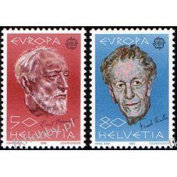 Szwajcaria 1985 Mi 1294-95 ** Europa Cept Muzyka  Flora