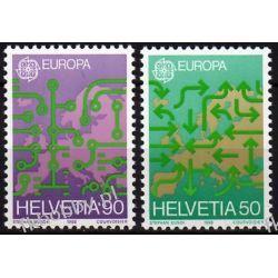 Szwajcaria 1988 Mi 1370-71 ** Europa Cept Mapa Pozostałe