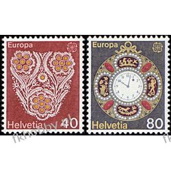Szwajcaria 1976 Mi 1073-74 ** Europa Cept Zegar  Pozostałe