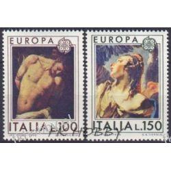 Italia 1975 Mi 1489-90 ** Europa Cept Michał Anioł  Pozostałe