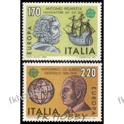 Italia 1980 Mi 1686-87 ** Europa Cept Statek  Druk wklęsły