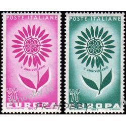 Italia 1964 Mi 1164-65 ** Europa Cept Kwiaty  San Marino