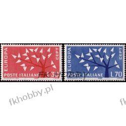 Italia 1962 Mi 1129-30 ** Europa Cept Drzewo  Ptaki