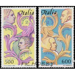 Italia 1985 Mi 1932-33 ** Europa Cept Muzyka  Kosmos