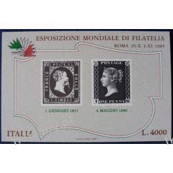Italia 1985 Mi BL 1 ** Znaczek na Znaczku Ssaki