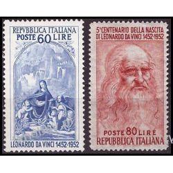 Italia 1952 Mi 877-78 ** Leonardo da Vinci  Pozostałe