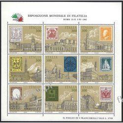 Italia 1985 Mi ark 1945-53 ** Znaczek na Znaczku  Malarstwo