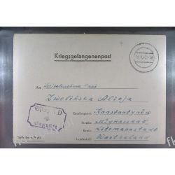 Poczta Obozowa Oflag IID Grossborn 1942 Kriegsgefangenenpost l4 Militaria