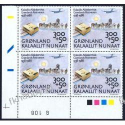 Grenlandia 1988 Mi 185 x4 ** Psy Samolot Pozostałe