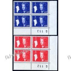 Grenlandia 1989 Mi 189-90 x4 ** Słania Królowa Małgorzata Polonica