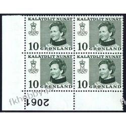Grenlandia 1973 Mi 84 x4 ** Słania Królowa Małgorzata b Owady