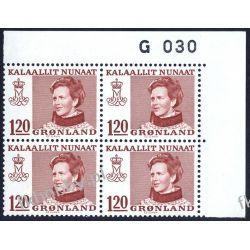 Grenlandia 1974 Mi 91 x4 ** Słania Królowa Małgorzata Druk wklęsły