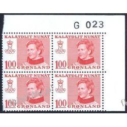 Grenlandia 1977 Mi 101 x4 ** Słania Królowa Małgorzata a Pozostałe