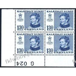 Grenlandia 1977 Mi 102 x4 ** Słania Królowa Małgorzata Owady